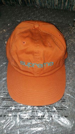 Supreme 6 panel Embroidered hat Orange/Light blue for Sale in Everett, WA