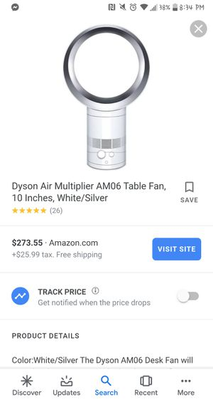 "Dyson cool AM06 desk fan 10"" for Sale in Los Angeles, CA"