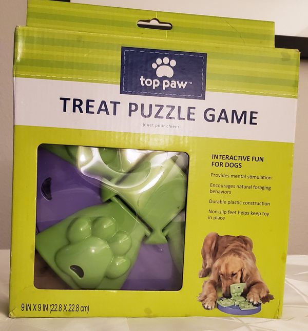 """NEW IN BOX """"TOP PAW"""" TREAT PUZZLE GAME 9 X 9 """" INCHES"""