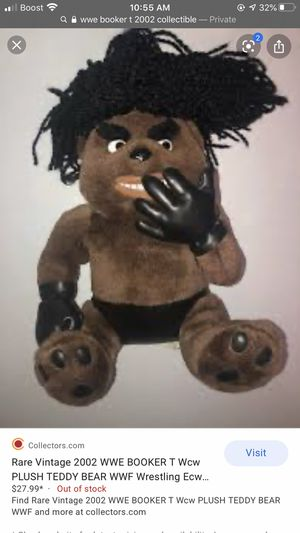 Rare WWE Booker plush teddy bear for Sale in Vernon, CA
