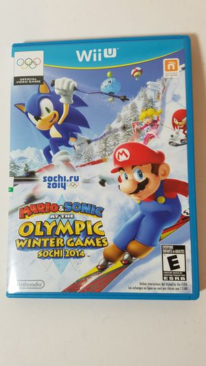 Nintendo Wii U Mario and Sonic at the Olympic Winter Games Sochi 2014 for Sale in San Leandro, CA