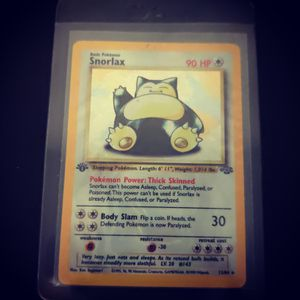 Snorlax Pokemon cards first generation Holographic first edition $500 for Sale in LOS ANGLS Air Force Base, CA