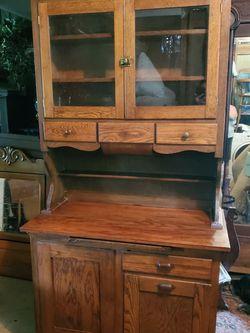 Antique Oak Kitchen Cabinet for Sale in Cumberland,  VA