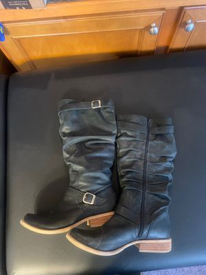 Mia tall shaft boots women's size 10 black for Sale in Bothell, WA
