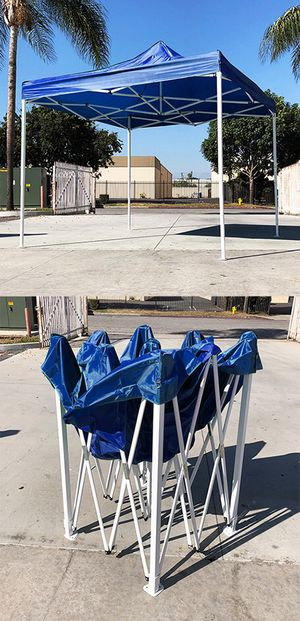 Brand New $90 Blue 10x10 Ft Outdoor Ez Pop Up Wedding Party Tent Patio Canopy Sunshade Shelter w/Bag for Sale in Downey, CA
