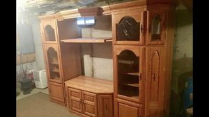 Solid Oak Entertainment Center for Sale in Danielson, CT