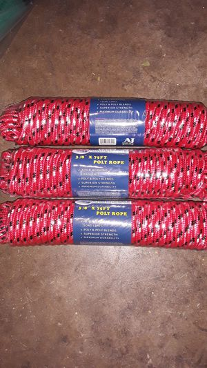 Poly Rope 75ft $5 EACH for Sale in Fontana, CA