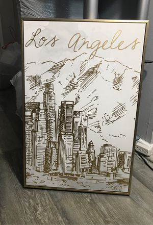 Los Angeles 3D Canvas Gold for Sale in Los Angeles, CA