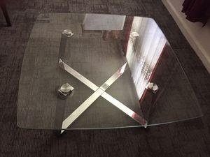 Modern glass top coffee table 35 1/2x35 1/2x16 for Sale in St. Louis, MO
