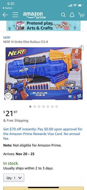 NERF N-Strike Rukkus ICS-8 NEW IN BOX for Sale in VLG WELLINGTN, FL
