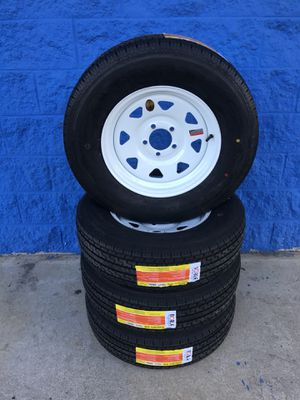 Brand new ST205/75R15 trailer tired & wheels for Sale in Macon, GA