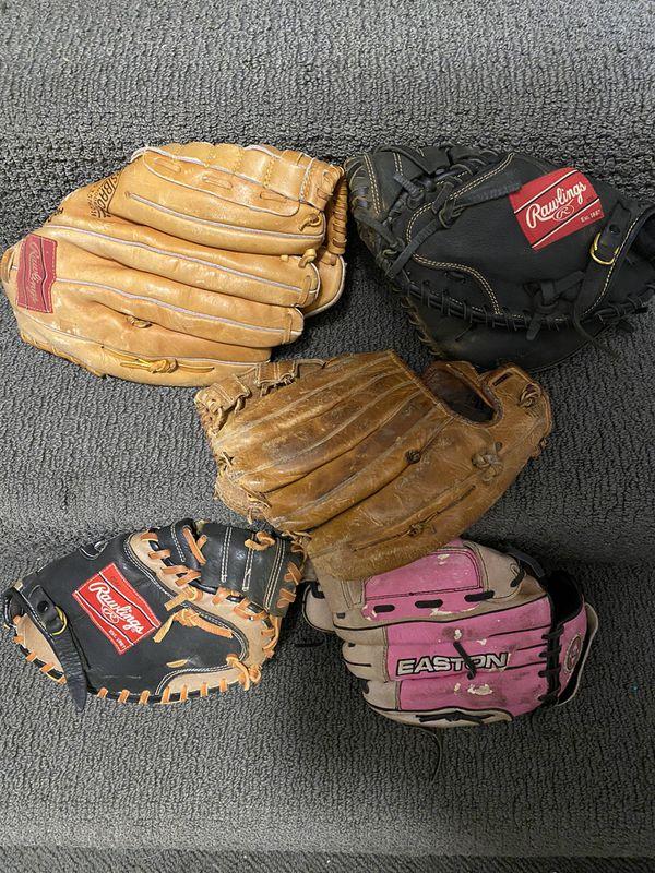 Baseball softball bats gloves equipment bag huge lot