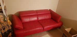 Glossy Red Couch for Sale in Reston, VA