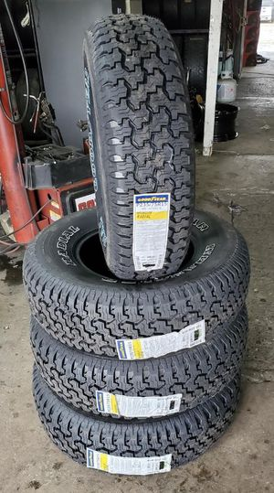 235/75/15 new Goodyear tires for $440 with balance and installation we also finance ask for Dorian 7637 airline dr houston TX 77037 for Sale in Houston, TX