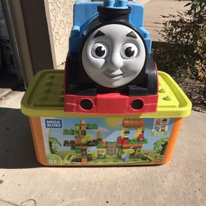 Thomas The Train Mega Blocks W/ Container Of Blocks for Sale in San Diego, CA