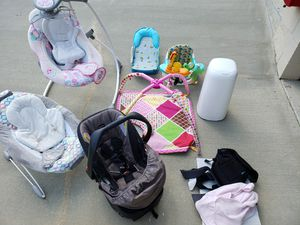 LOT OF BABY ITEMS (Car Seat, Swing, etc.) for Sale in Apex, NC