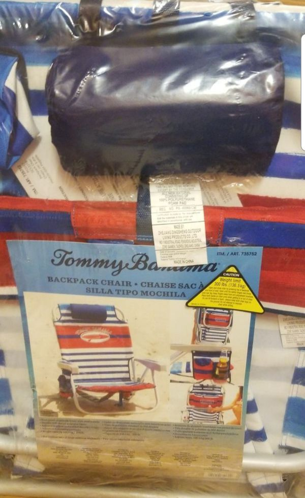 Tommy Bahama Backpack Chair. Beach Chair. New