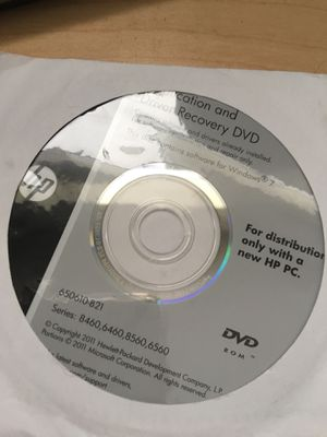 Hp OEM windows 10 pro , 8, 8.1 pro and vista . Restore disks as well for HP 8460 to 6560 ellitebook. And 840-850 G1 restore disk for Sale in Lakeland, FL