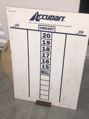 Dart score board $5. for Sale in Raleigh, NC