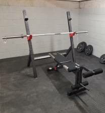 Olympic Bar, Bench and Stand for Sale in Brooklyn, NY