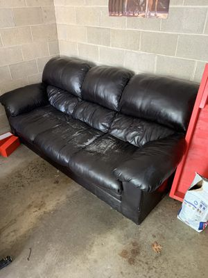 Fake leather couch for Sale in Columbus, OH