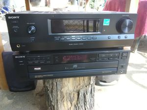 300 Watts Sony receiver with remote control and 5 discs CD player plus Pioneer loudspeakers with 15 woofers for Sale in Washington, DC