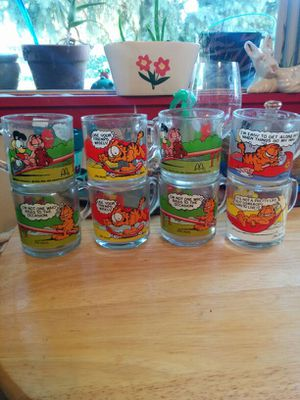 1970's Garfield glass collection 8glasses for Sale in Maplewood, MO