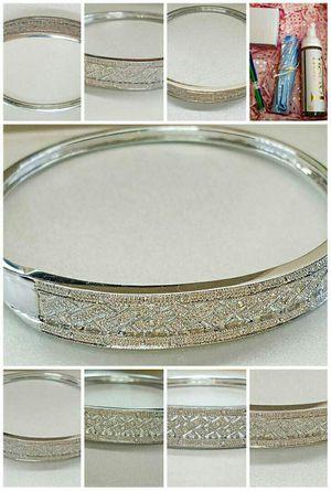 Brand new diamond white gold ladies bangle. VISIT SHOWROOM for Sale in Atlanta, GA