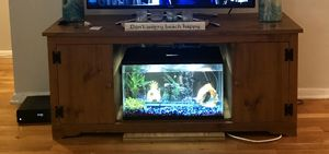 TV10 Gallon Fish Tank - Aquarium includes filter, heater, lid with LED lights for Sale in Wall Township, NJ