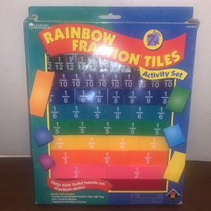 Learning Resources Rainbow Fraction Tiles Kids Boys Girls Educational School Toy for Sale in San Diego, CA