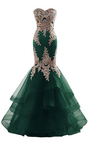 Dark green prom dress Size 10 for Sale in Pittsburgh, PA
