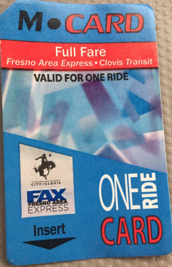 One ride bus pass( multiple)