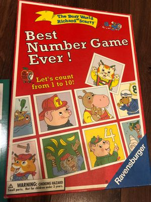 New Richard scarry best number game ever - up to six players. Homeschool. Math. Teach numbers for Sale in AZ, US