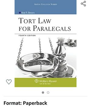Torts for paralegals 4th edition for Sale in Anaheim, CA