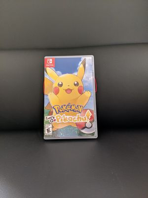 Pokemon Lets go pikachu for Nintendo switch like new for Sale in Spencerville, MD