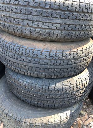 Goodyear Trailer Tires 205 75 14 Matching set lots of tread. for Sale in El Cajon, CA