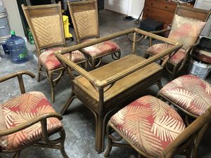 Rattan wicker dining room set for Sale in Victoria, TX