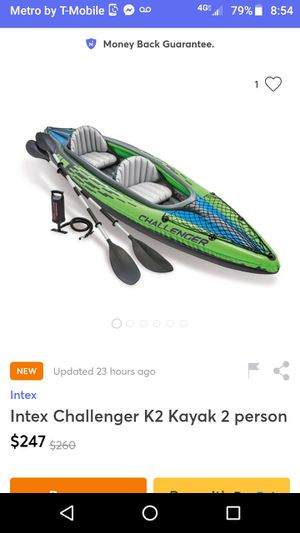 2 person inflatable kayak for Sale in Lavonia, GA