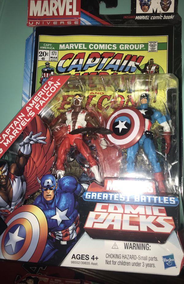 Marvel Comic Pack - Captain America & Falcon