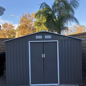 METAL STORAGE SHED (LIKE NEW) Sliding Doors for Sale in Rancho Cucamonga, CA