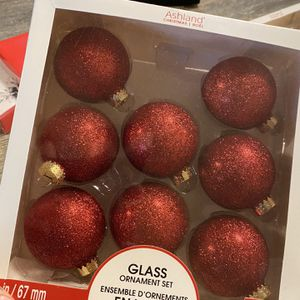 Red Sparkly Glass Ornaments for Sale in Everett, WA