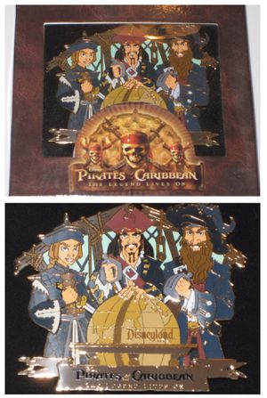 disney disneyland PIRATES of the CARIBBEAN BOXED PIN the legend lives on LE 500 for Sale in Tustin, CA