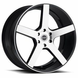 """22"""" Staggered Strada Wheels Perfetto Gloss Black Machined Rims for Sale in Atlanta, GA"""
