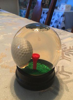 Collectible golf stress reliever GLASS globe for Sale in Visalia, CA
