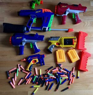 Large Lot Nerf Guns, Magazines, Foam Darts for Sale in Steilacoom, WA