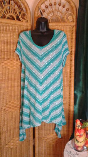 Massini women tunic style grn/wht dress size 3x for Sale in MIDDLE CITY WEST, PA