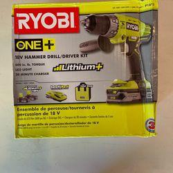 Ryobi 18v Hammer Drill / Driver Kit P1812 for Sale in Redmond, WA