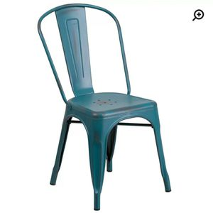 Metal indoor-outdoor stakable chair - set of 4 for Sale in San Diego, CA