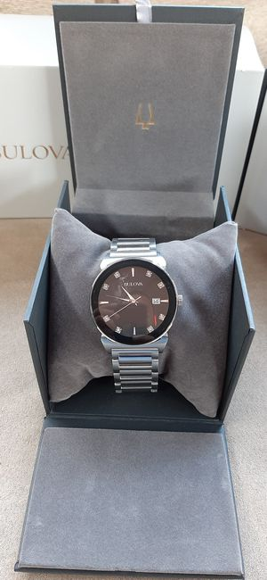 Like New Mens Bulova Stainless steel with Diamond for Sale in Santa Ana, CA