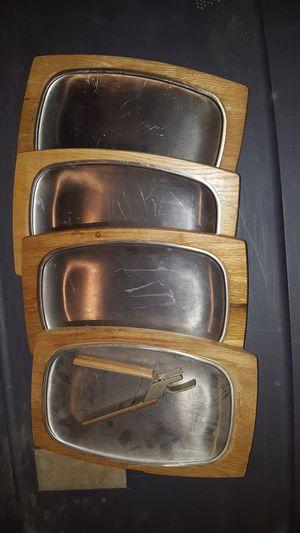 4 wooden, hot steak plates for Sale in Millersville, MD
